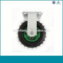 Alibaba China Heavy Duty Noiseless Wear-Proof Rubber Fixed Caster Wheel