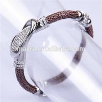 2015 promotional leather bracelet shamballa bangle, stingray bracelet