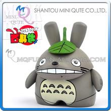 Mini Qute Mask Bear 6.5cm Kawaii boy gift Gray Totoro plastic reloading Anime action figures Cartoon toy car Decoration model
