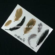 Custom High Quality Temporary Metallic Tattoos