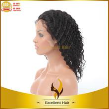 Wholesale Good price virgin brazilian hair half wig best quality unprocessed virgin brazilian hair half wig