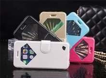2014 New Arrival TPU Diamond leather case for iphone 6 luxury diamond leather case