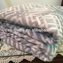 Fashion new design strips decorative flannel fleece blanket
