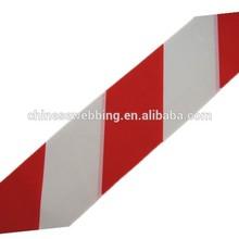 Red white stripe polyester webbing for warning belt safty belt