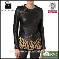 2014 Black jacket OME service short design high end fashion wholesale clothing