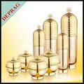 50ml vazio plástica cosmética jar jar rosto creme de ouro com tampas de rosca