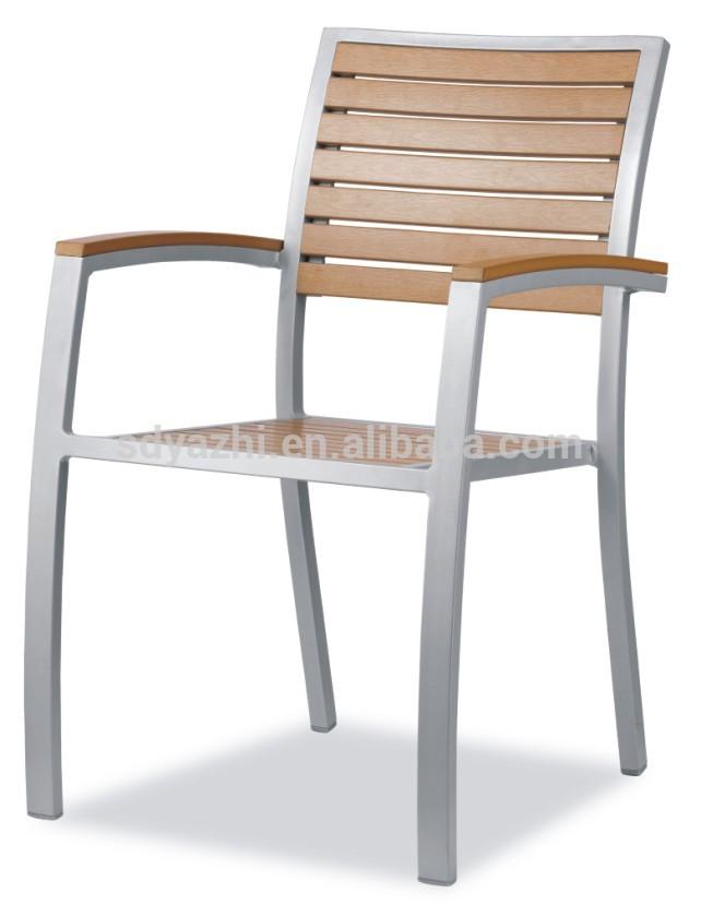 buiten dineren stoel stapelbare kunststof en hout aluminium tuinstoel metalen stoelen product ID