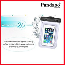 univeral waterproof bag for swimming mobile phone waterproof bag with string