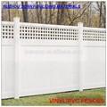 pvc cercas de privacidad con la parte superior de vinilo del enrejado jardín cercas de privacidad de plástico cerca de la casa
