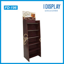 corrugated floor cardboard display paper material display stand for chocolate retail