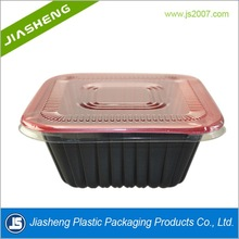 PP blister packaging fast food microwaved plastic box with lid