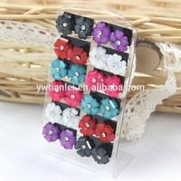 Stock Wholesale Cheap12pairs Set Jewellery Resin Plastic Acrylic Crystal Flower Design ladies Stud Earrings With Iron Needle