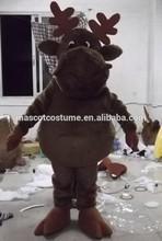 las ventas caliente renos mascota traje de cosplay renos encantadora de dibujos animados de renos traje de dibujos animados