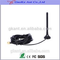 dvb-t active antenna, 173-230/470-862MHz 3dBi High Gain Omni Range Extender Mobile Magnetic Base dvb-t active vhf/uhf antenna
