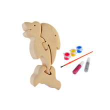 3D wooden craft puzzle dolphin