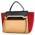 gl579 compra online na china marca trendy camurça de couro saco de mão