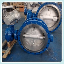 Rubber Seal Double Flange Motorized Butterfly Valve