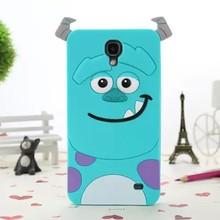 3D Cartoon Cute Silicone Rubber Skin Case For Samsung Galaxy Mega 2