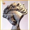 décor de table en métal de taille vie cheval de bronze sculpture de la tête pour la vente