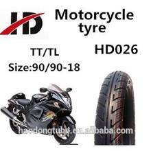 shandong qingdao motorcycle tubeless tyres 90/90-18