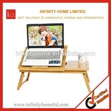 Height Adjustable Portable Wooden Folding Laptop Desk