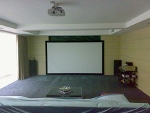 "16:9 Ratio 180"" Velvet Covered Deluxe Fixed Frame Projection Screen"