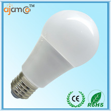 Cheap factory sell new design low cost 9w e27 round plastic bulbs
