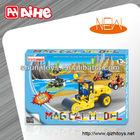 intelligent educational toys assembled toy car plastic diy building block toy