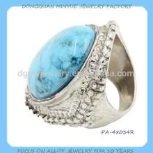 fashion silver men turquoise gemstone rings