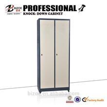 standard simple cheap kd 2 door wood color steel locker