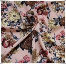new printed design polyester spandex woven fabric
