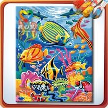 painting numbers set wholesale/OEM diy cross stitch case