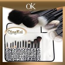 QK 12 pieces yellow makeup brush set