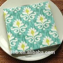 Menta verde de papel servilleta de cena servilleta de impresión de dinero falso