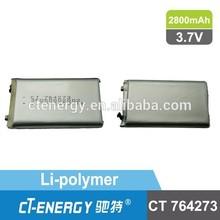 power bank li-polymer batteries high capacity 2800mah battery 3.7v