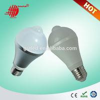 5W 7W 9W PIR Sensor LED Bulb with Infrared Human-body Sensor, Voice-control, Light-control Function