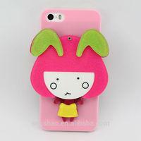3D cartoon girl mirror case for iphone5/6/6plus