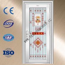 YZ-7016 modeern steel doors/commercial steel entry doors/metal door frames
