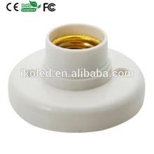 E27 Lamp Holder Lamp Base Plastic Shell Round Base E27 Socket Lamp Bulb Holder