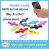 Universal cheap custom logo smartphone holder Sticky touch U mobile phone stand