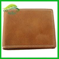 Leather men wallet brown short wallets for men