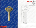 YA-12R High quality door blank key(Hot sale!!!)