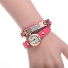 Hot Sale Women's Bow Jewerly Bracelet Watches Lady's Fashion Alloy Quartz Three-winding Leather Band wrist watch women fashion