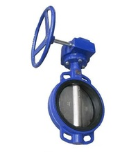 DN40-DN1200 PN10/PN16 CF8/CF8M/DI /PTFE/ NBR Seat Wafer Type Butterfly Valve