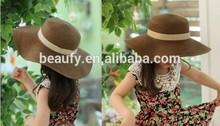 Children's Beach Straw Hat, Summer Straw Sun Hat