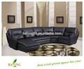 Clássico prolongamento de preto canto modernos sofás de couro