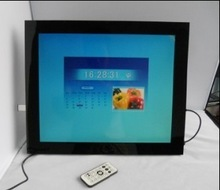 CE FCC certification 17inch lcd screen cart advertisement frames with DC adapter