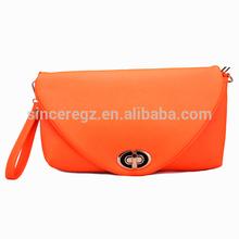 Guangzhou manufacturing ladies leather pu purse evening bag 13SH-1176SO