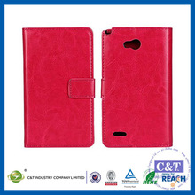 C&T Fashion New Arrival Wallet Card Holder Premium Pu Leather Flip Case for LG Optimus L80