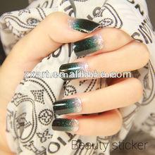 2015 wholesale self adhesive gel nail glitter nail sticker